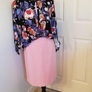 Vtg NWT Nygard Pink Pencil Skirt